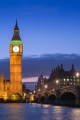 The Palace of Westminster Big Ben at night, London, England, UK.