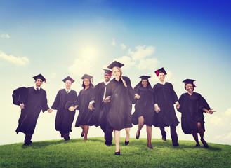 Students Graduation Success Achievement Celebration Concept