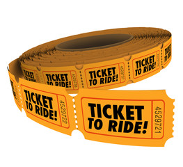 Ticket to Ride Roll Passes Admission Riding Travel Fun