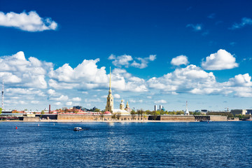 View of the Neva river. St. Petersburg, Russia