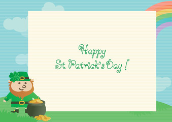 Happy St. Patrick's Day. Vector background