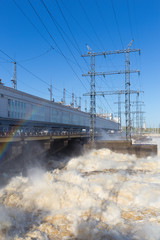 foam water and hydroelectric