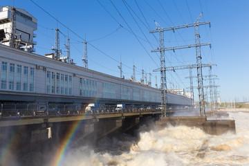spillway  and rainbow