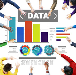 Data Analytics Chart Performance Pattern Statistics Concept