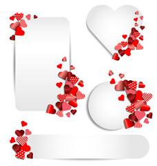 Set of heart frame for Valentine day