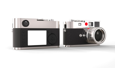 Vintage style digital camera - front and back