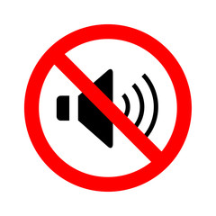 Not Speaker sign vector