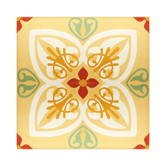 Oriental traditional floral ornament tile texture background