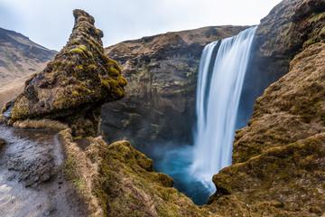 Iconic Skagafoss fall, Iceland