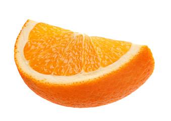 Orange citrus fruit slice