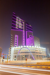 Office building in the city of Kuwait at night