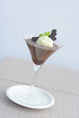 Chocolate Mousse in a wine glass