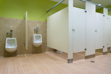 Public restroom with urinals