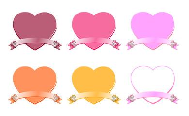 ハートのフレーム(ピンク系)