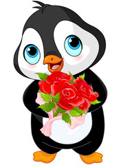 Cute Valentine day penguin