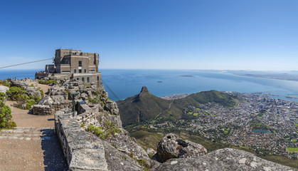 View of Cape Town city from Table Mountain