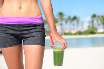 Green vegetable smoothie - Healthy lifestyle