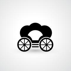 Pumpkin carriage icon vector