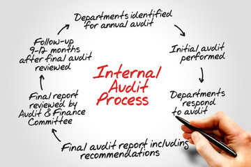 Internal Audit Process flow chart, business concept