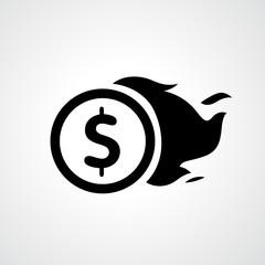 Coin icon vector