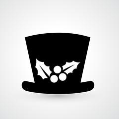 top hat icon vector