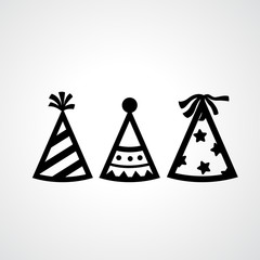 Party hat icons vector