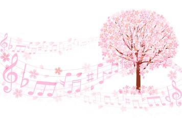 桜 音符 背景
