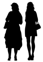Beauty girls in dress
