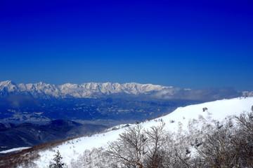 長野県の雪景色