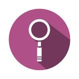 icono lupa morado boton sombra