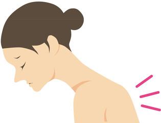 背中が痛い女性