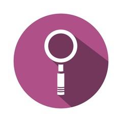 Icono lupa morado botón sombra