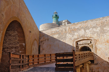 Lighthouse Castle Maniace In Ortigia Old Town, Sicily