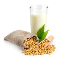 Soybean milk with seed.