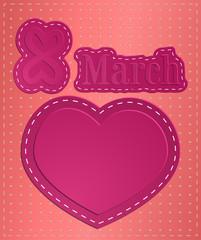 illustration: March 8, heart