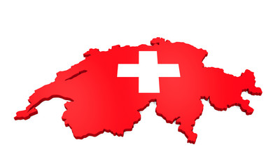 Map of Swiss Isolated