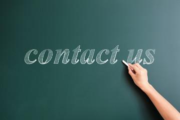 contact us written on blackboardq