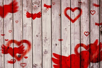 Composite image of ~love heart pattern