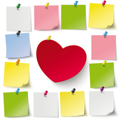 Heart Stickers Thumbtacks