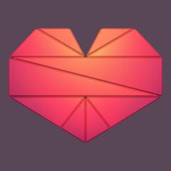Vector Illustration of geometric heart.