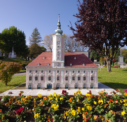 St Polten town hall in miniature