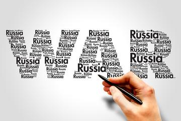 Russia War Terrorism concept word cloud