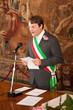 An italian mayor during a wedding celebration