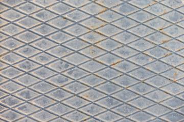 Metallplatte mit Rautenmuster