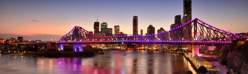 The Story Bridge in Brisbane, QLD - Australia.