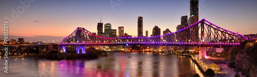 Leinwandbild Motiv The Story Bridge in Brisbane, QLD - Australia.
