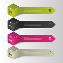 Infographics. Business step options. Vector illustration