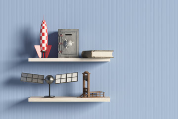 shelf with objects