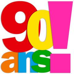 Icône 90 ANS (fête félicitations joyeux anniversaire)