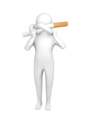 Man with knotted cigarette